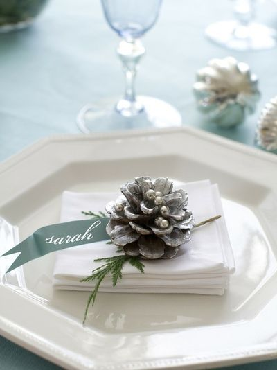 Adding place cards to your Christmas table is a simple way to make your guests feel special