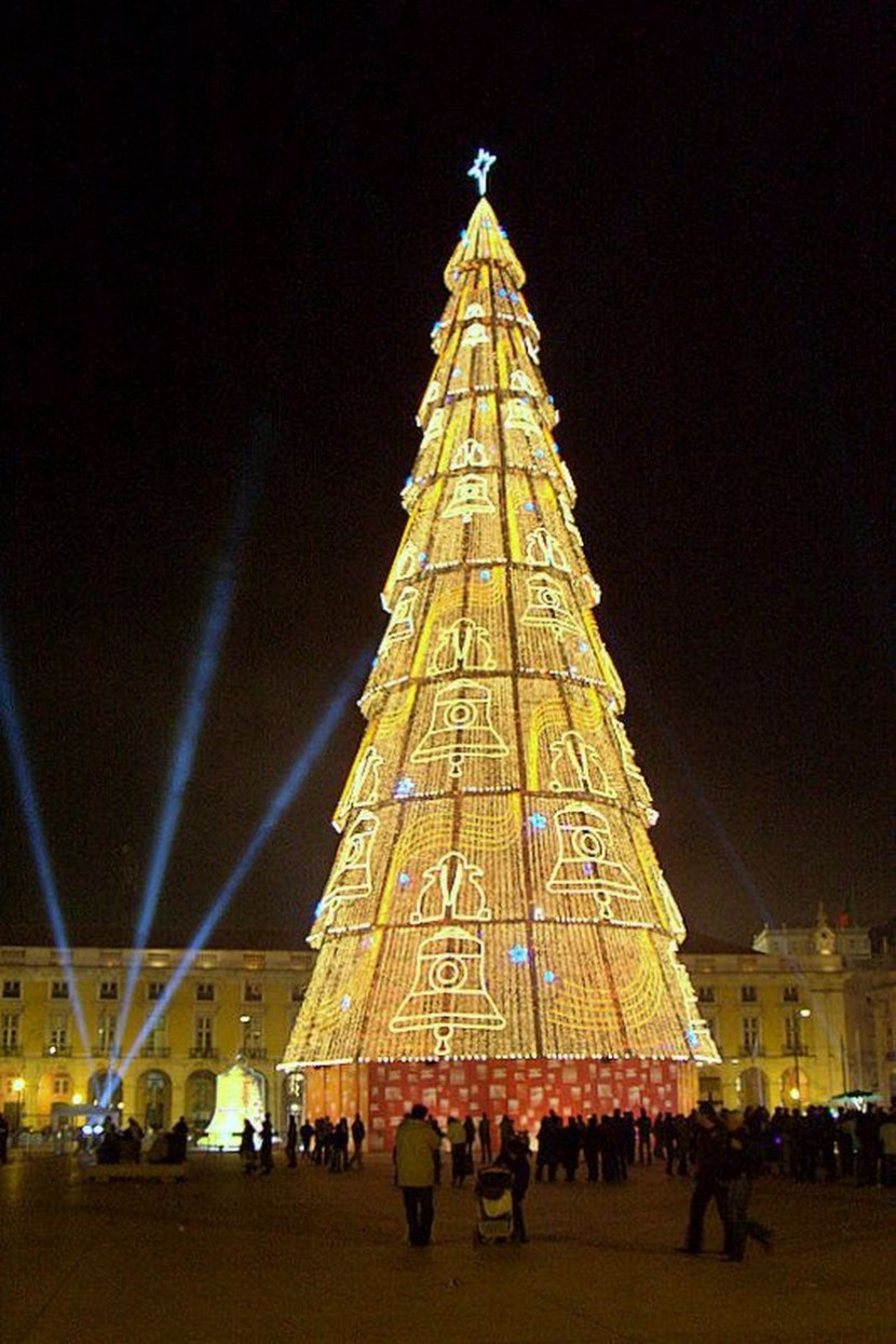 Christmas tree in Lisbon, Portugal