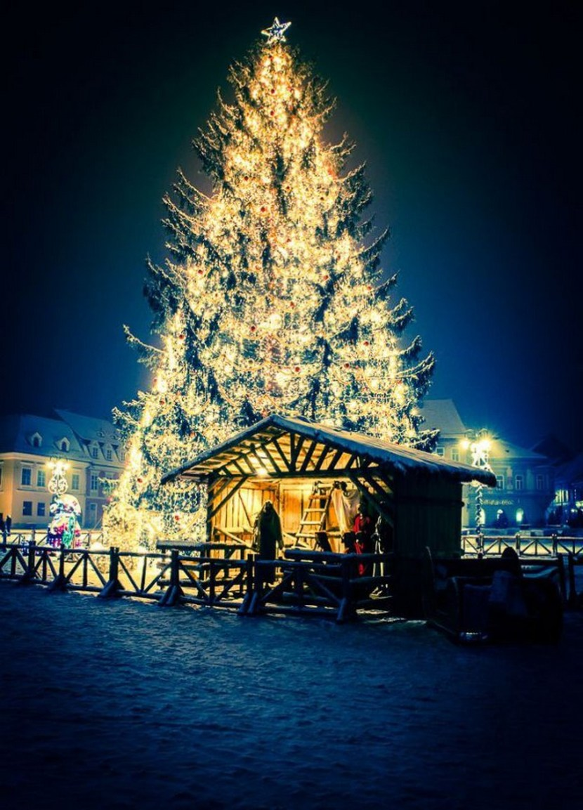 Christmas in Brasov, an authentic medieval city in the Carpathians, Romania