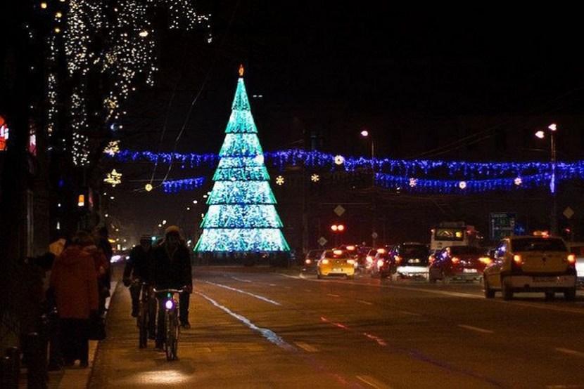 Christmas lights in Bucharest, Romania