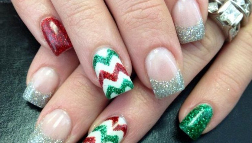 30 festive christmas acrylic nail designs christmas photos 30 festive christmas acrylic nail designs prinsesfo Image collections