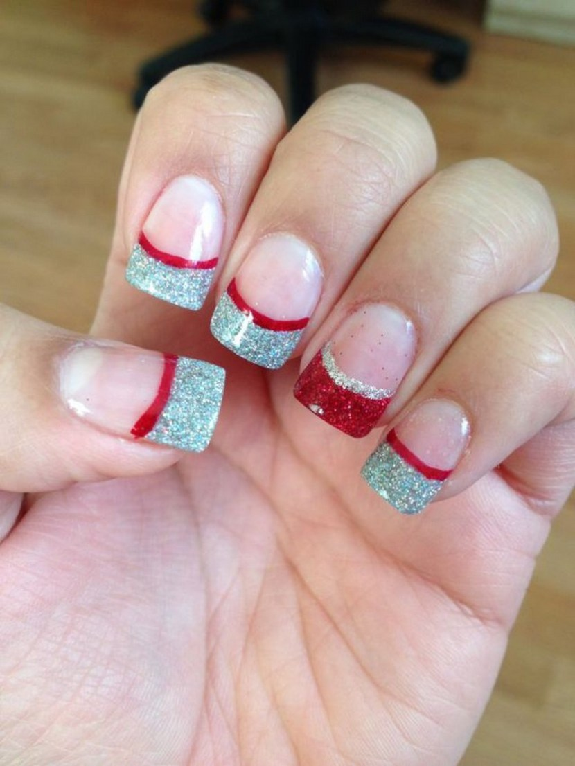 30 festive christmas acrylic nail designs christmas photos last christmas acrylic nail design prinsesfo Image collections