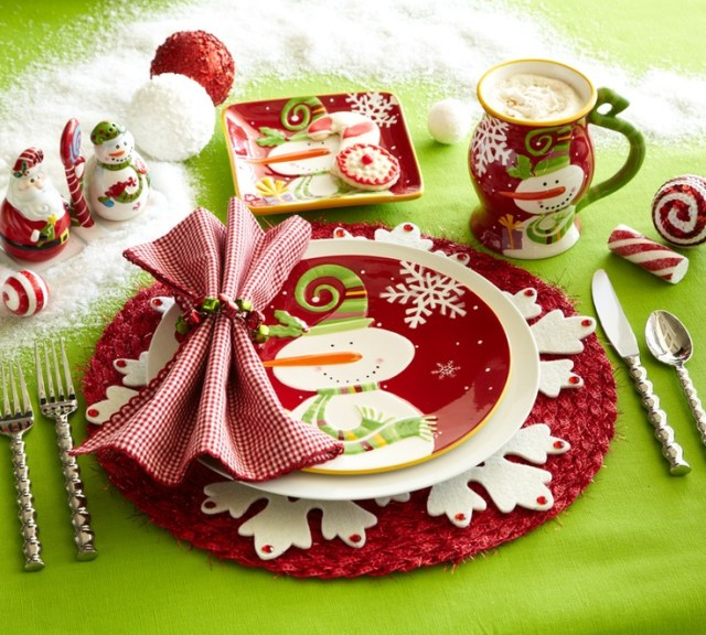 Bring some fun to the table with Pier 1 Jolly Holiday Dinnerware and Santa & Snowman Salt & Pepper Set