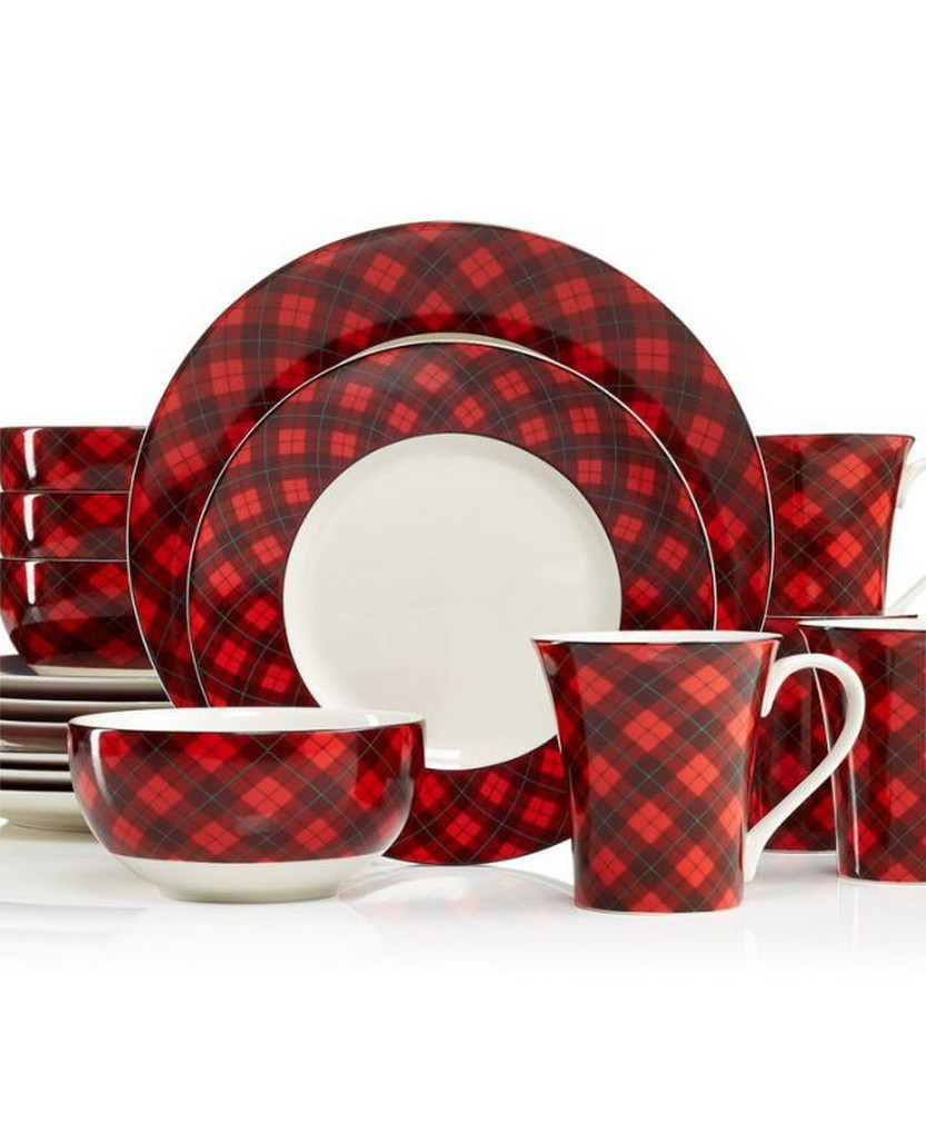 222 Fifth Dinnerware Northwood Cottage 16-Piece Set \u2013 Casual Dinnerware \u2013 Dining \u0026  sc 1 st  Christmas Photos : red christmas dinnerware - pezcame.com