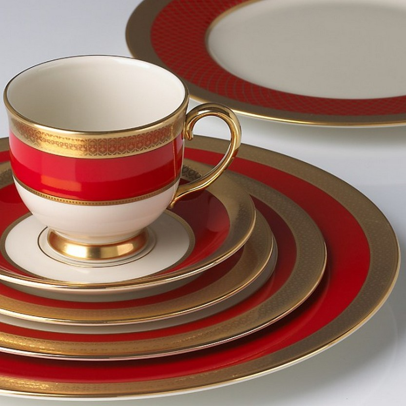 Embassy 5-piece Dinnerware Place Setting by Lenox \u2013 Great alternative for Christmas china without : red christmas dinnerware - pezcame.com