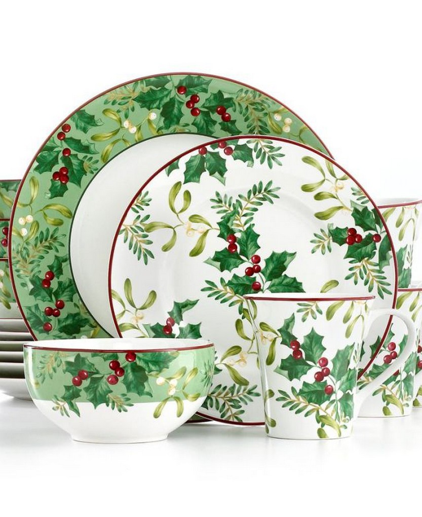222 Fifth Dinnerware Christmas Foliage 16 Piece Set  sc 1 st  Christmas Photos & 57 Beautiful Christmas Dinnerware Sets u2013 Christmas Photos