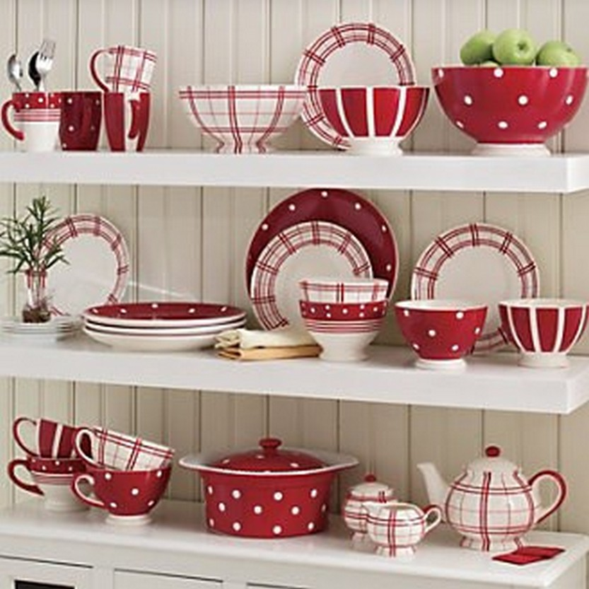 Red \u0026 White FunTastic Dinnerware Mixing Bowls And Teapot Set  sc 1 st  Christmas Photos & 57 Beautiful Christmas Dinnerware Sets \u2013 Christmas Photos