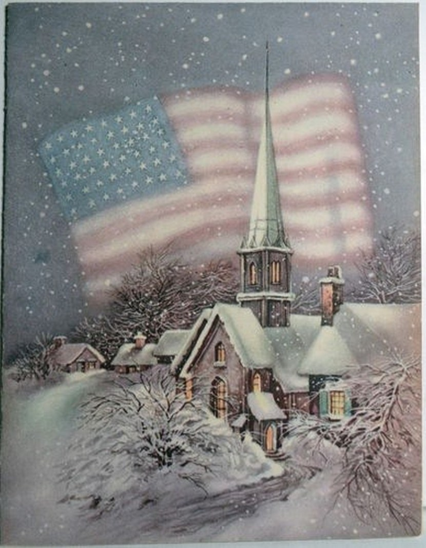 Star Spangled Banner Christmas card