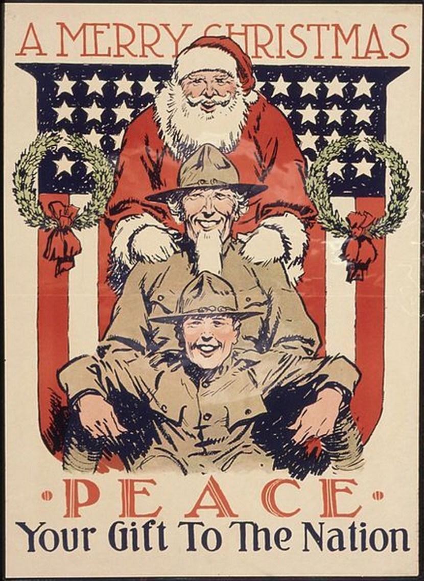 Vintage Army Christmas card
