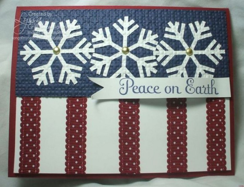 Awesome patriotic Christmas card – Peace on Earth