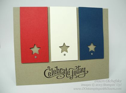 A quick and easy patriotic card by Dawn Olchefske