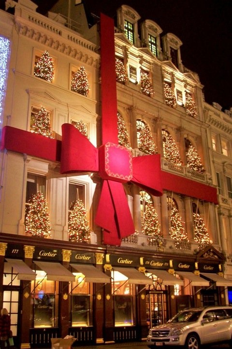 Cartier Bond Street at Christmas
