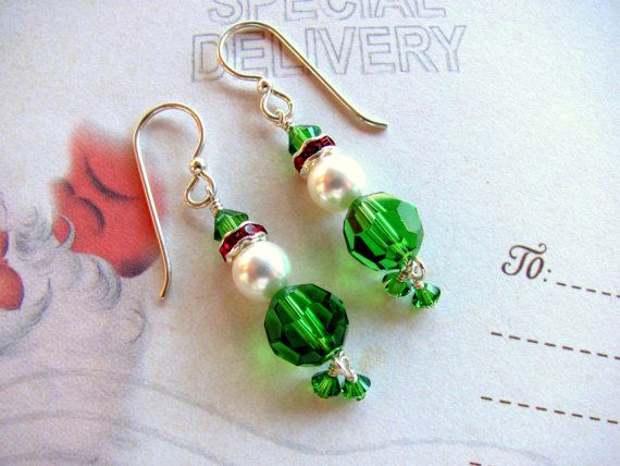 Christmas Elf Earrings Holiday Earrings by HappyEverythingElse on Etsy, $20.00