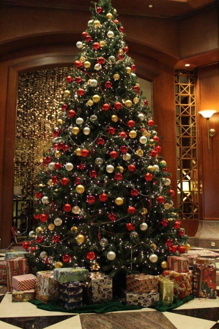 Christmas lights up at the Sheraton Imperial Kuala Lumpur, Malaysia