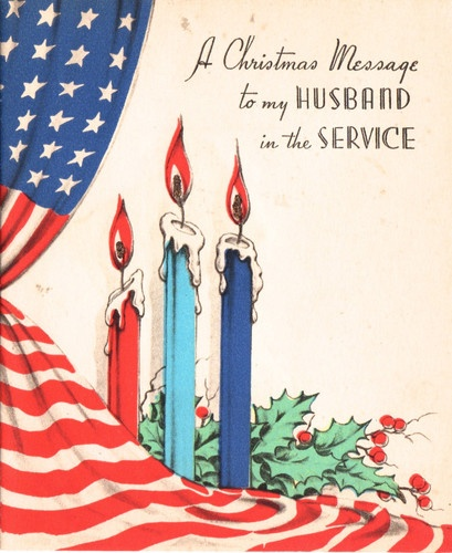 Christmas WWII card