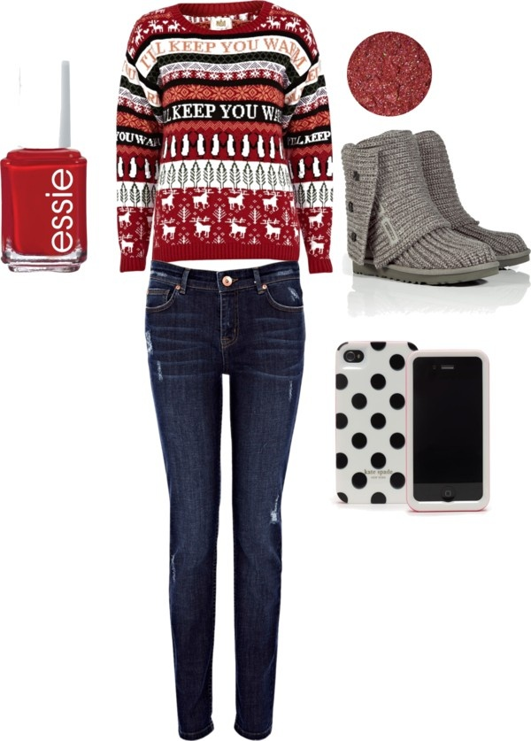 Cute Christmas outfit by macksmom on Polyvore
