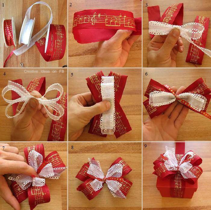 DIY Christmas Present Bow Tutorial