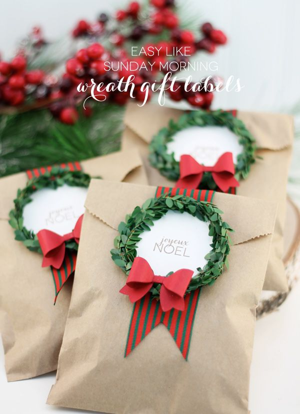 DIY Wreath Gift Tags with easy steps for beginners