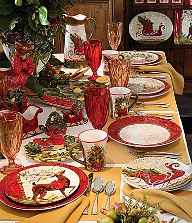 Dillards Certified International Winter Garden Dinnerware