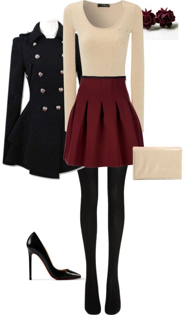 Dressy winter outfit