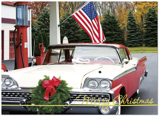 Fairlane Christmas – This photograph of a classic Ford Fairlane is perfect for anyone with a love of automobiles