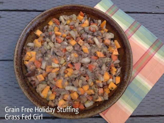 Grain Free Holiday Stuffing