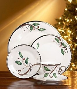 Lenox Holiday Nouveau Platinum White Christmas Dinnerware