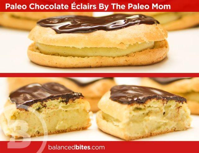 Paleo chocolate eclairs