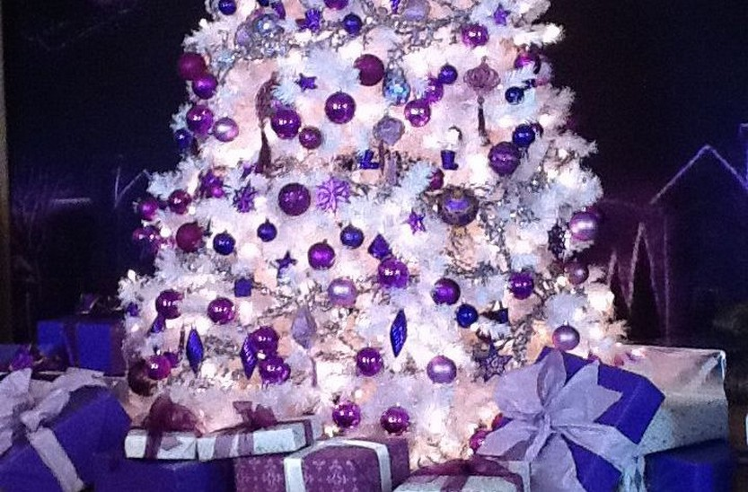 Purple Christmas Tree Lights.Purple Christmas Trees Christmas Photos