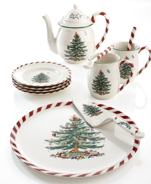 Spode Dinnerware, Christmas Tree Peppermint Collection - Holiday Dining - Dining & Entertaining - Macy's
