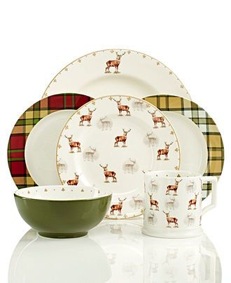 Spode Dinnerware, Glen Lodge Collection - Christmas Dinnerware - Holiday Lane - Macy's