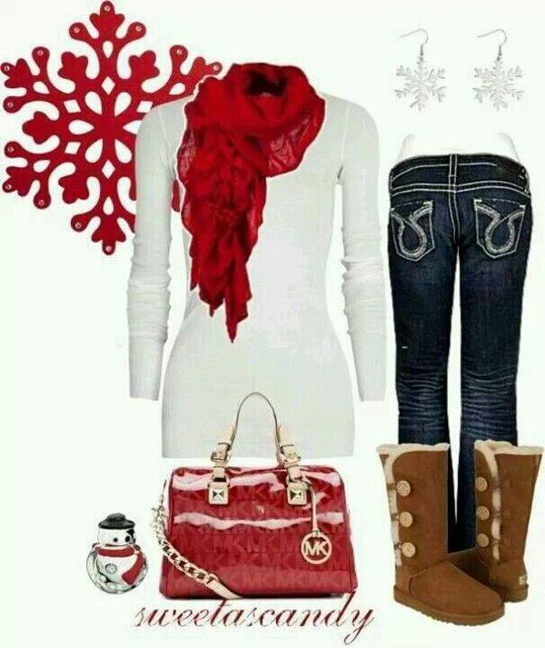 Sweet as candy Christmas outfit idea