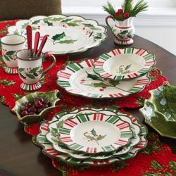 Victorian Christmas dinnerware and accessories