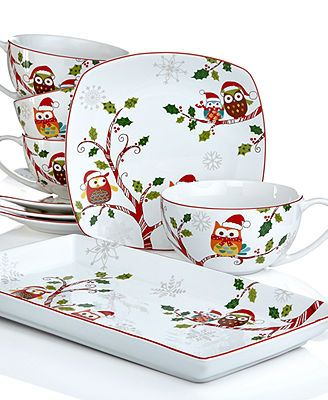 222 Fifth Holiday Enchanted Woods Christmas Collection I absolutely adore these little owls!