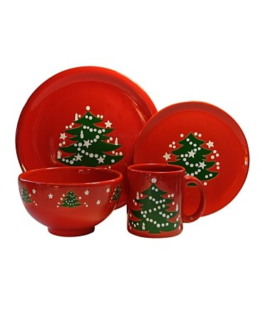Christmas dishes - German Waechtersbach Dinnerware, Christmas Tree Collection