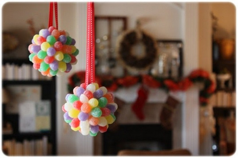 Gum drop pomander ornaments