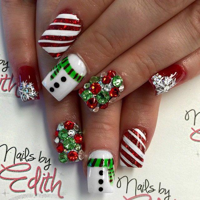 Christmas Acrylic Nails.More Christmas Acrylic Nail Designs Christmas Photos