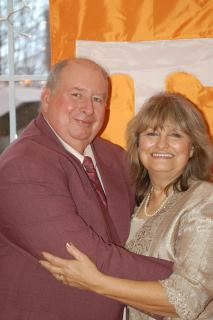 David Peckenpaugh with wife Linda. David plays the role of Sheriff in CHRISTMAS RIDE