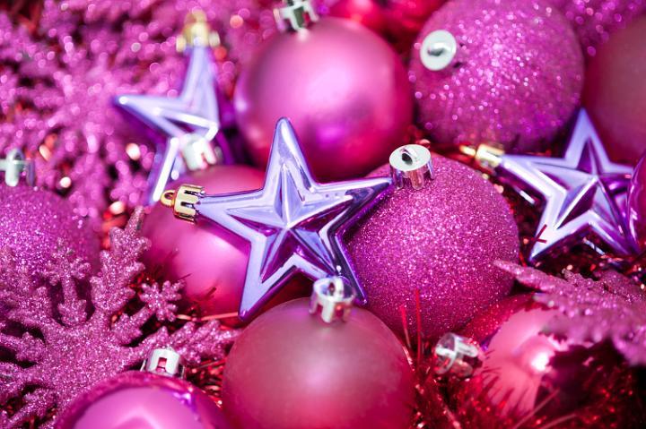 christmas pink girly balls