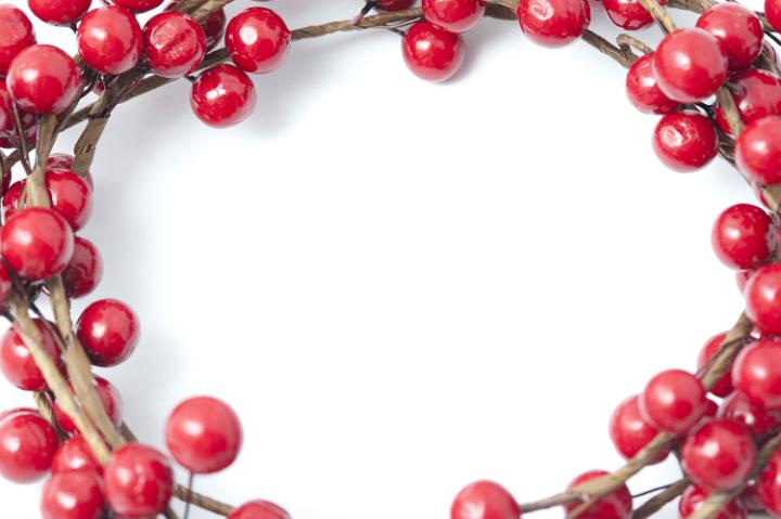 Photo Of Bright Red Christmas Berry Border Or Frame Free