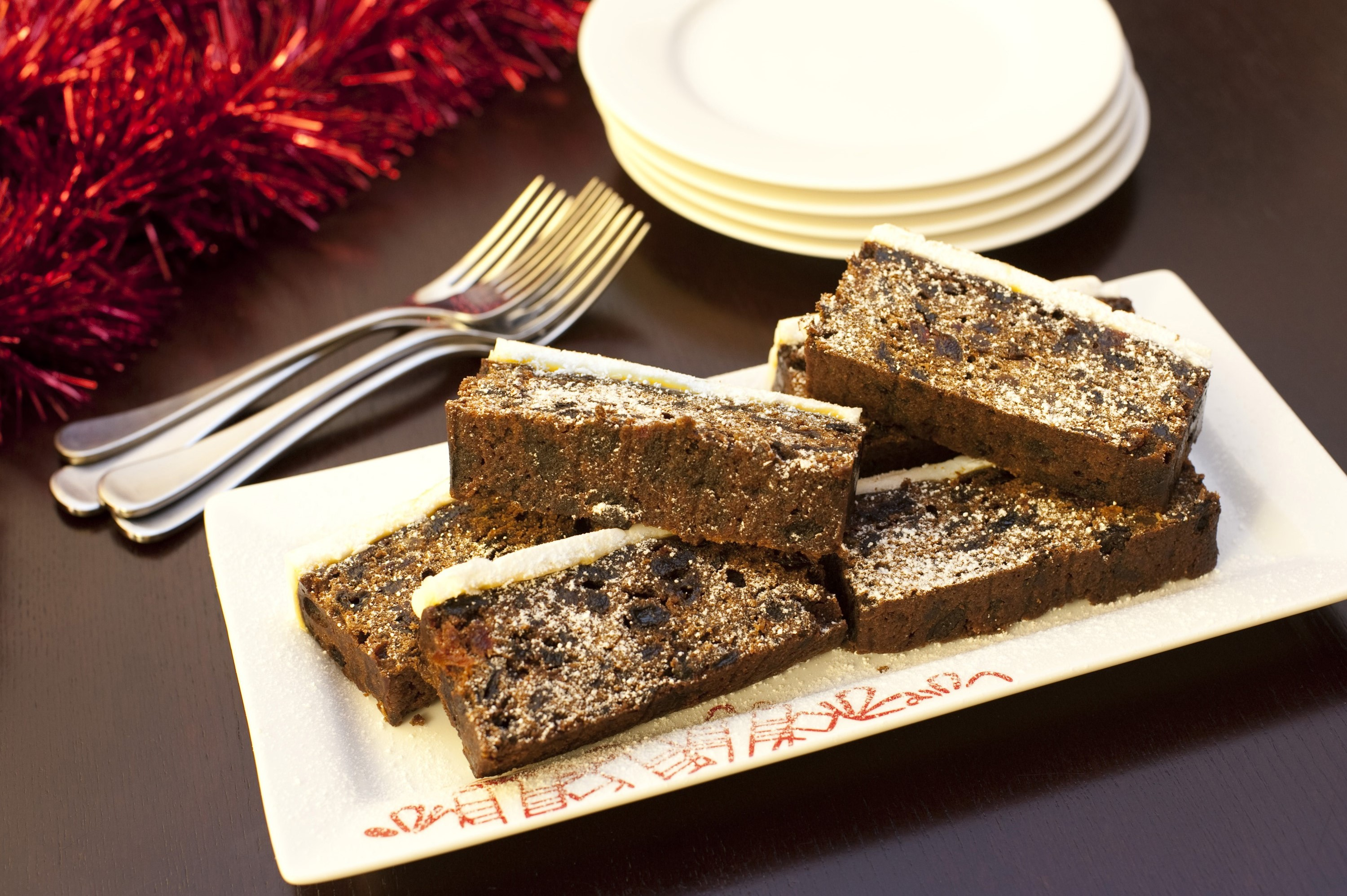 Photo Of Slices Of Christmas Fruit Cake Free Christmas