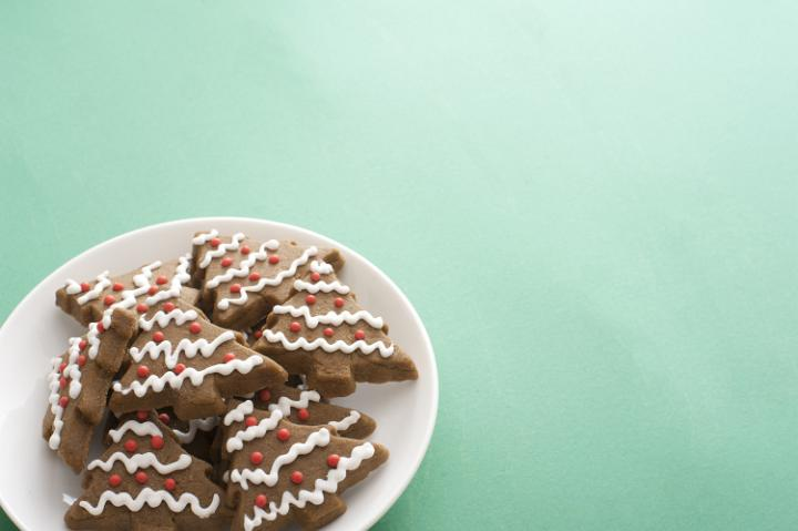 Photo Of Plate Of Crunchy Christmas Gingerbread Cookies