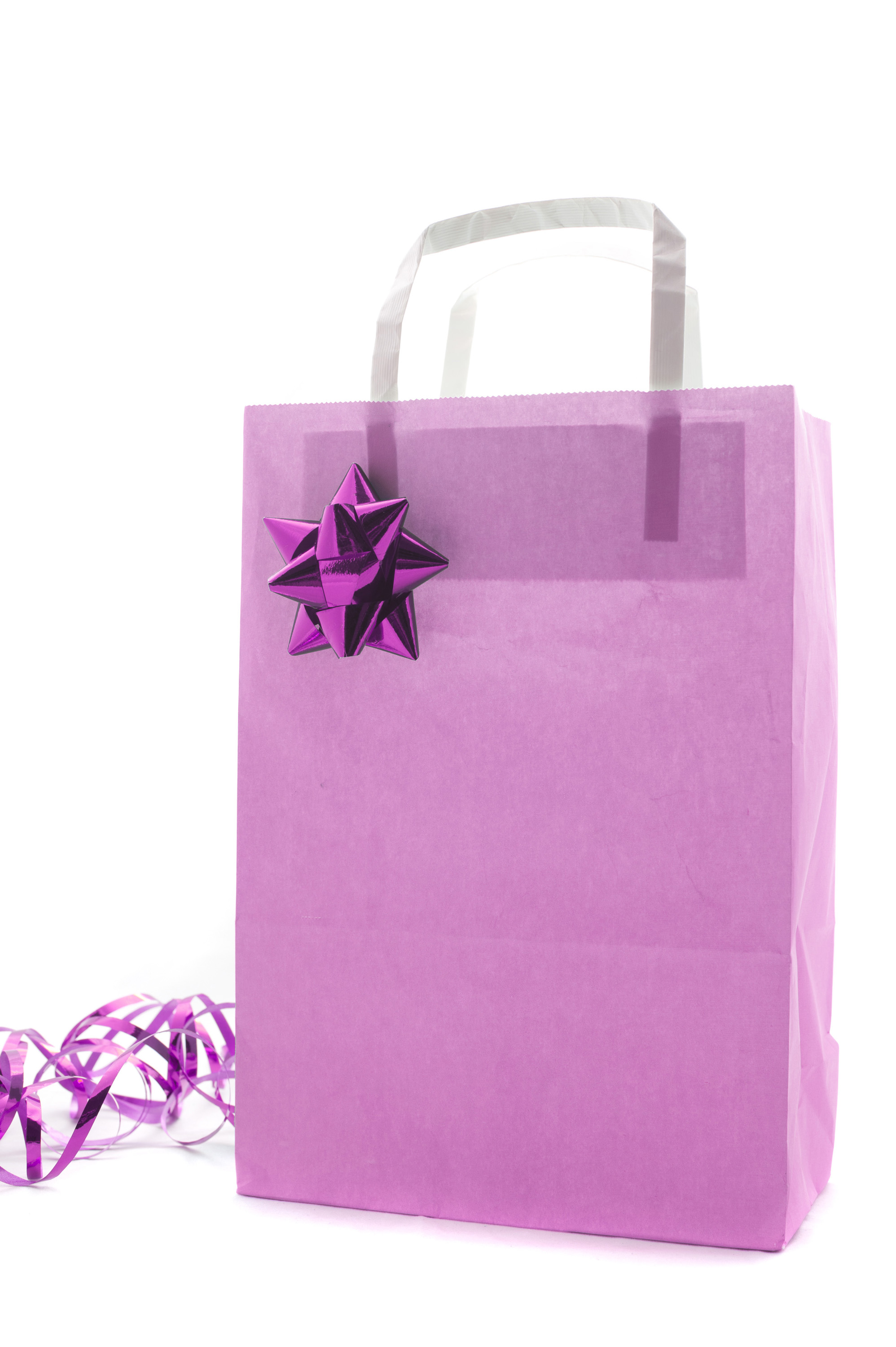 Photo Of Pink Christmas Shopping Or Gift Bag Free