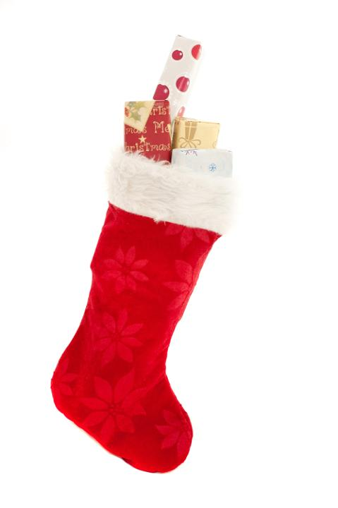 Photo Of Isolated Red Christmas Stocking With Gifts Free