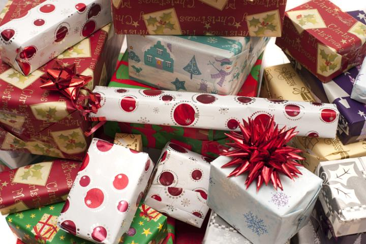 Photo Of Pile Of Decorative Colorful Christmas Gifts