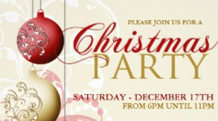 Fancy and Elegant Holiday Party Invitations