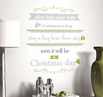 silver bells wall decals