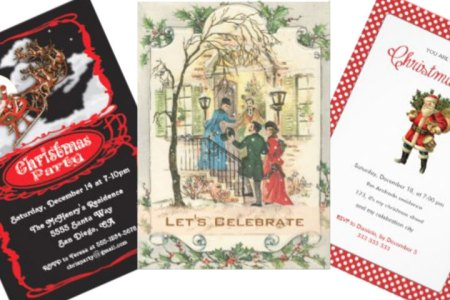 Vintage Christmas Party Invitations