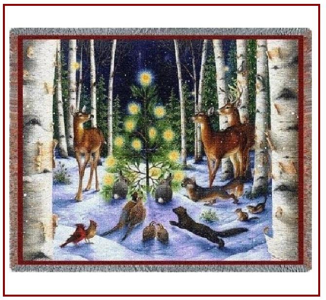 Christmas Animals blanket