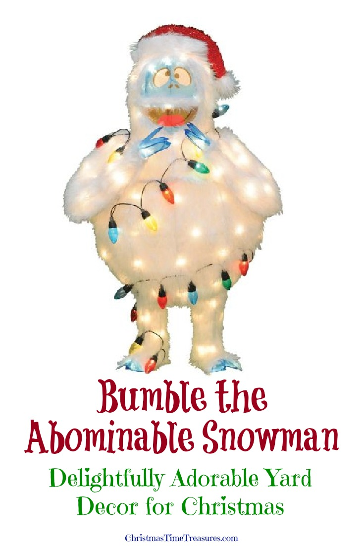 Bumble, the Abominable Snowman Christmas yard decor